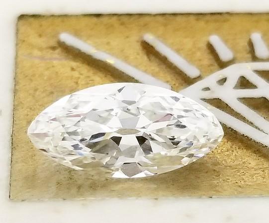 1.12ct Vintage Marquise/Moval Diamond - GIA H, VS2