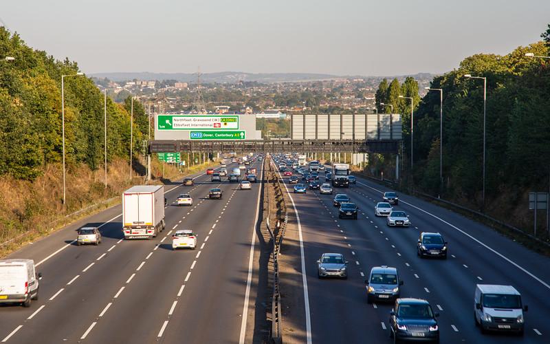 A2 motorway at Ebbsfleet