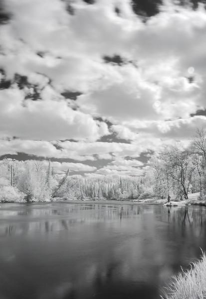 ig Fork River near Effie, MN in infrared