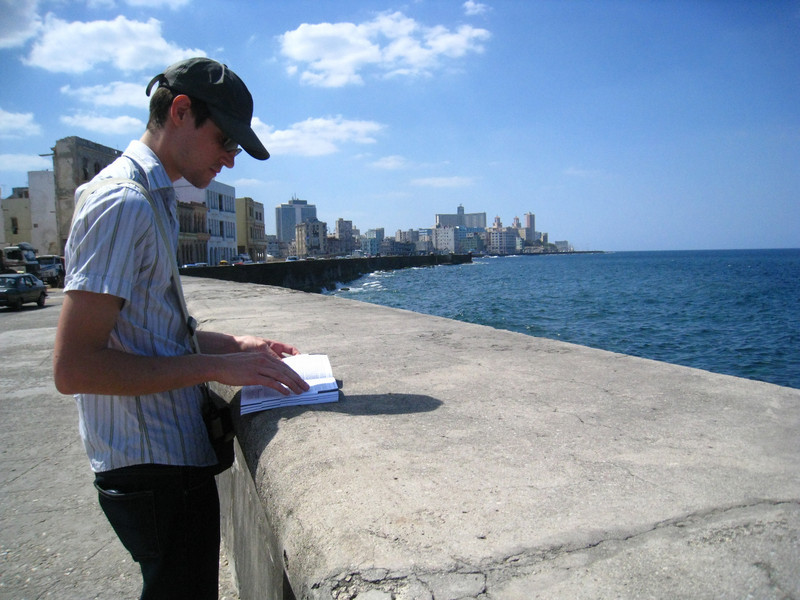 Taking the long way to Plaza Vieja by walking along the Malecon.  Beautiful but very noisy and full of pollution