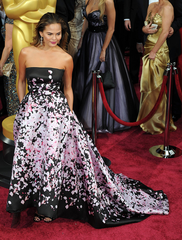 . Christine Teigen attends the 86th Academy Awards at the Dolby Theatre in Hollywood, California on Sunday March 2, 2014 (Photo by John McCoy / Los Angeles Daily News)