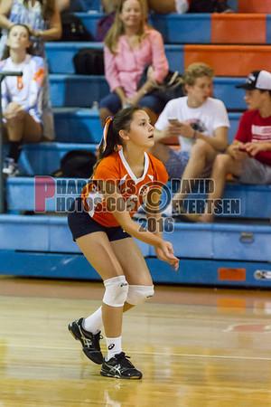 TFA Royals @ Boone Braves Girls Varsity Volleyball - 2016