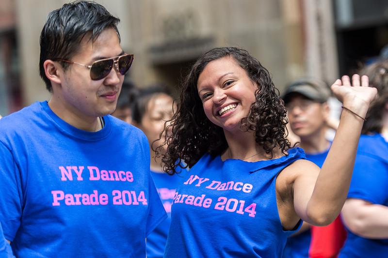 Revelers enjoying the NYC Dance Parade 2014