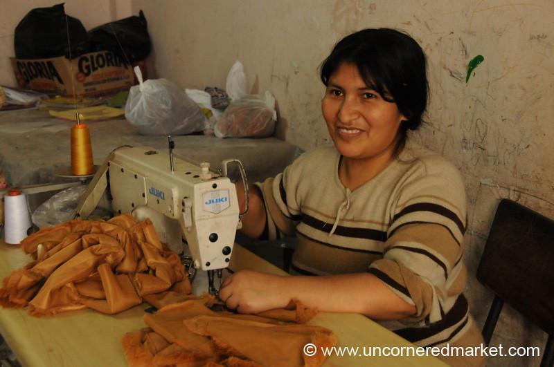 Sewing Stuffed Animals - San Juan de Miraflores, Lima, Peru