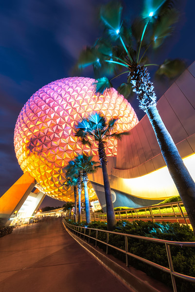 Spaceship Earth Night Disney World Epcot.jpg