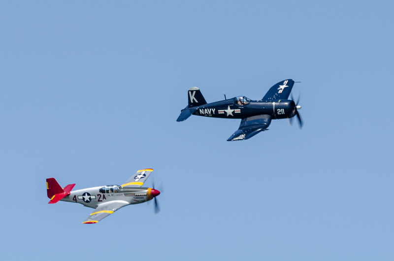 F-4U Corsair and P-51 Mustang