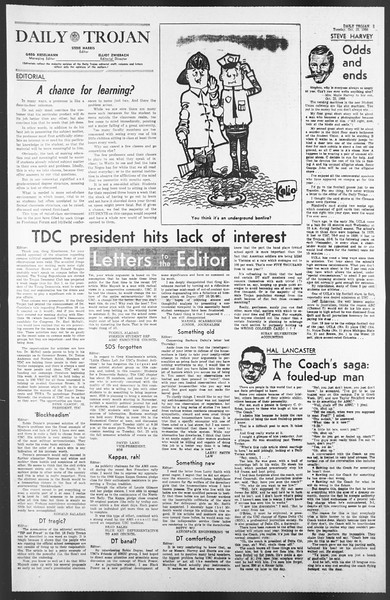 Daily Trojan, Vol. 58, No. 26, October 25, 1966