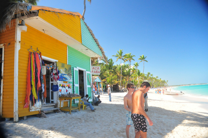 souvenir shop set up on beach