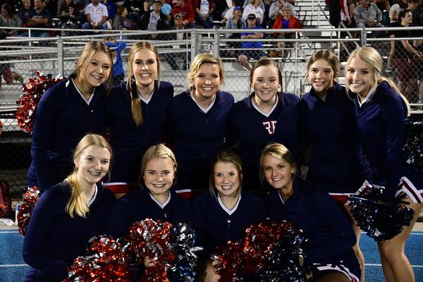 Cheer at Varsity Football vs Bennington