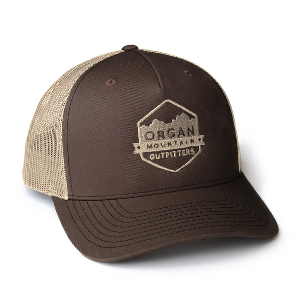 Organ Mountain Outfitters - Outdoor Apparel - Hat - Snapback Trucker Cap - Brown Khaki.jpg