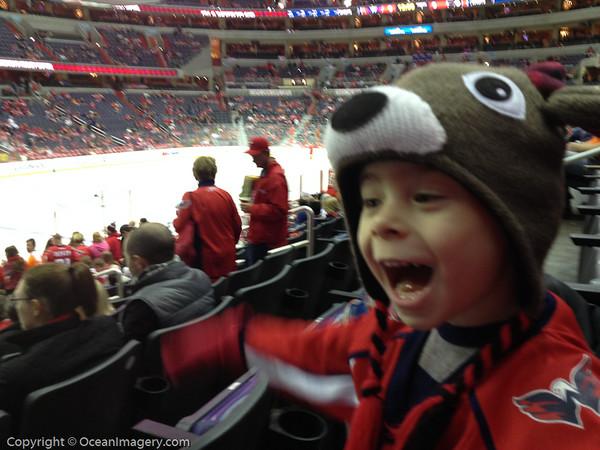 20131215 Washington, DC. - Dylan's First Caps Game!
