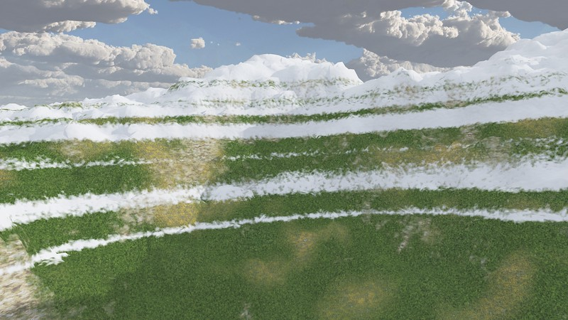 Ice Mountain 1 : A Computer Generated Image from Daily Animation