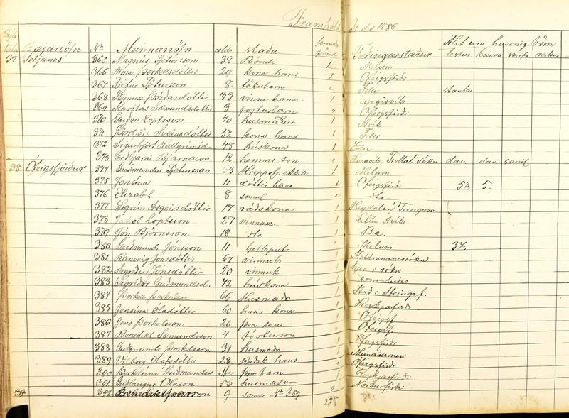 1886 Ófeigsfj-fh Ben Sæm 4 ára fóstursonur Steinunnar Þórðard vinnukonu 33