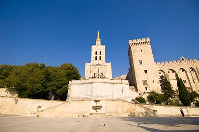Europe, France, Provence, Avignon, Palais des Papes , Notre Dame des Doms