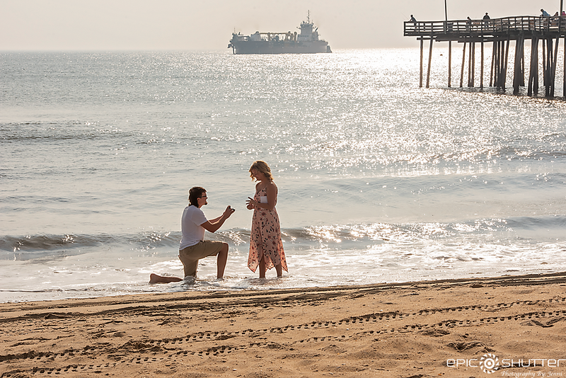 Becca and Jacob Surprise Proposal, Outer Banks Fishing Pier