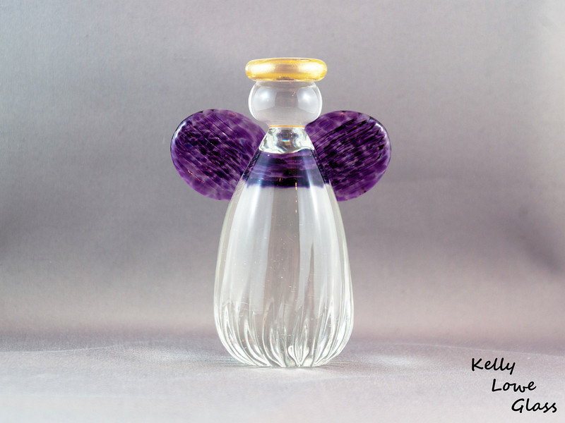 Glass Angel - Large - Purple