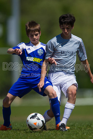 U13 TFC Navy vs TCYSA Twins White 5/3/2014