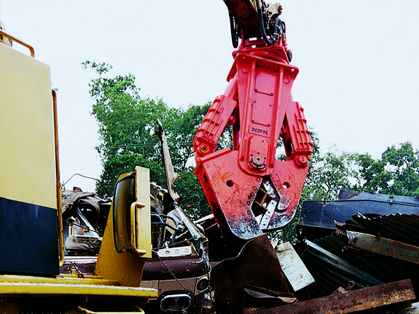 NPK M38K demolition shear on Cat excavator-C&D recycling (19).jpg