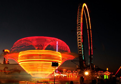 Midway at the Heart of Texas Fair and Rodeo, October 2010.