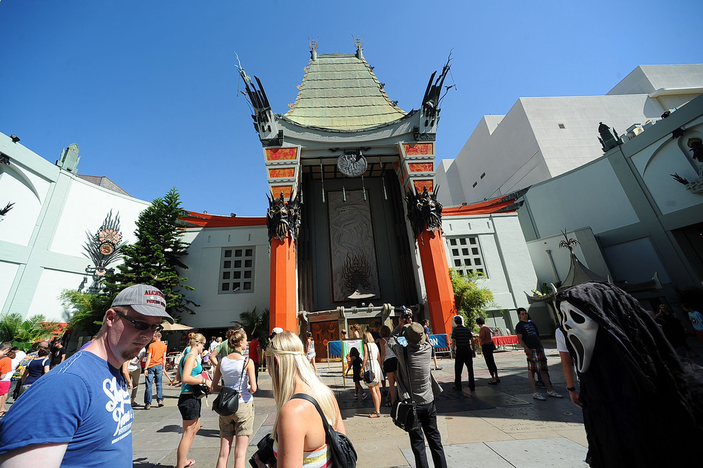 . After a summer hiatus, the TCL Chinese Theatre is reopening as the world�s biggest IMAX Theatre with a showing of the Wizard of Oz September 20th.(Andy Holzman/Los Angeles Daily News)