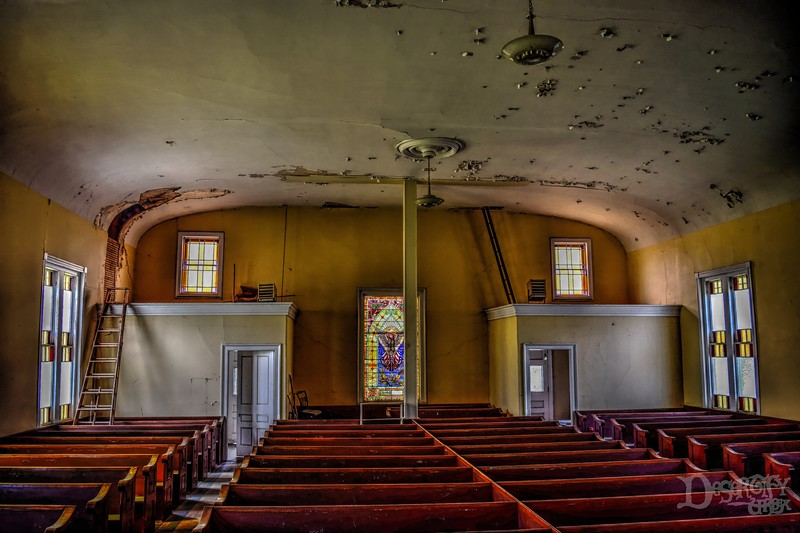 Abandoned Maine Church Nave