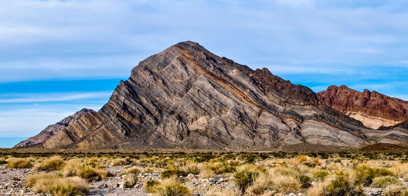 Mountain upheaval outside Death Valley