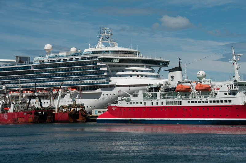 Cruise ships in Ushuaia, Argentina