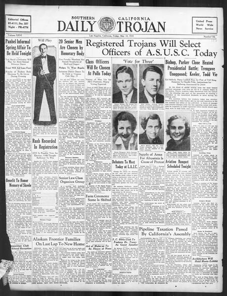 Daily Trojan, Vol. 26, No. 134, May 10, 1935