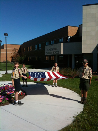 Aug 29 (Practice) & Aug 31 (1st Day of School!), 2011 Flag Ceremony