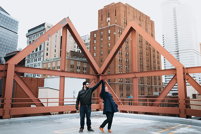 Downtown and Strip District | Sara + Mike | Engagement Session