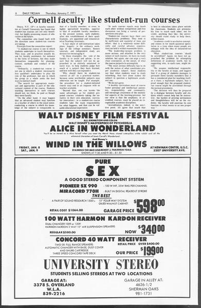 Daily Trojan, Vol. 62, No. 59, January 07, 1971