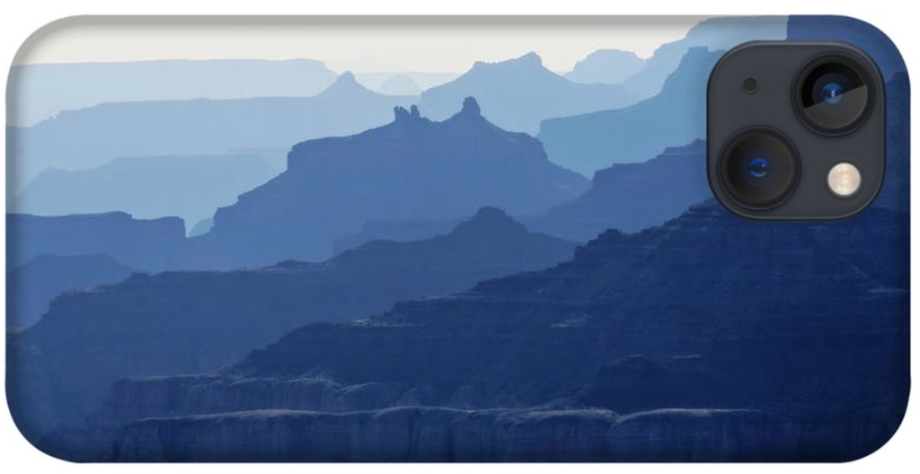 Grand Canyon blue silhouettes