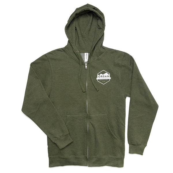 Outdoor Apparel - Organ Mountain Outfitters - Sweater - Midweight Zip Hoodie Army Front.jpg