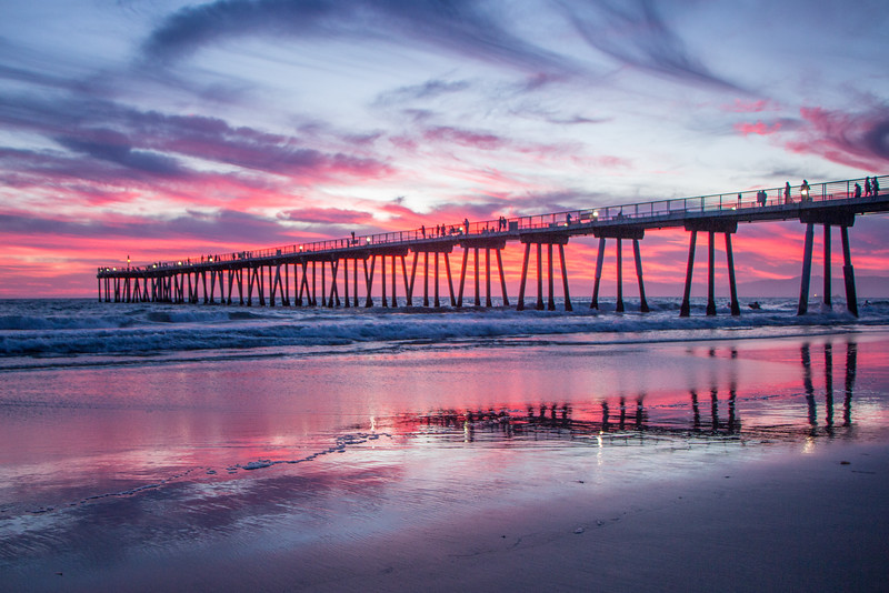 Sunset from Hermosa Beach Pier