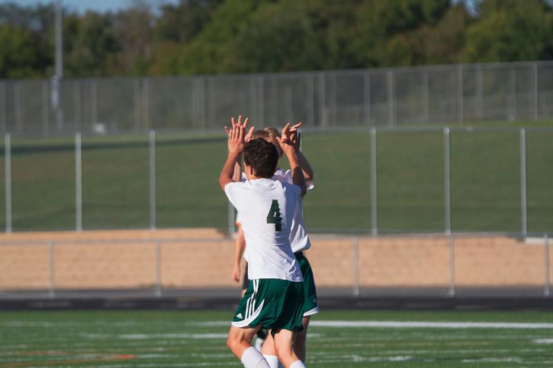 Holy Family Varsity Soccer vs. Delano, 9/19/19: Charlie Ficek '22 (4) & Dylan Krumpholz '21 (21)