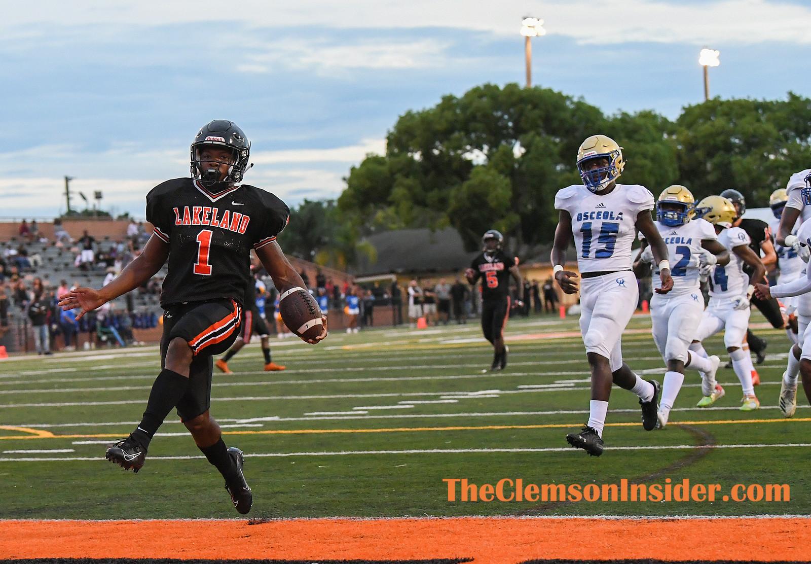 Clemson commit Lakeland (Fl) High running back Demarkcus Bowman plays against Kissimmee Osceola Friday, August 16, 2019 in Lakeland, Fl. Bart Boatwright/The Clemson Insider