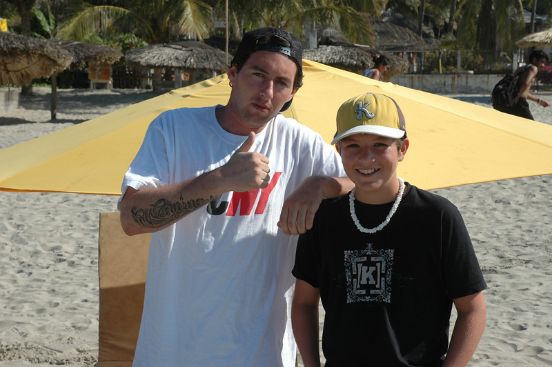 Henry and Pro Skater Brian Wenning