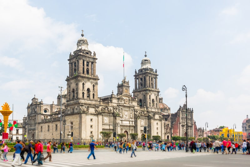 start your mexico city itinerary at zocalo square