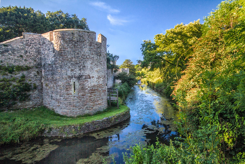 The moat around the Bishop's Palace, Wells