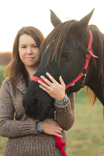 engagement ring and horse