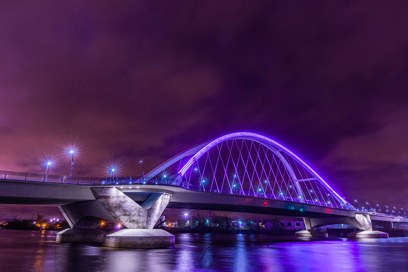 Lowry Bridge iu Purple