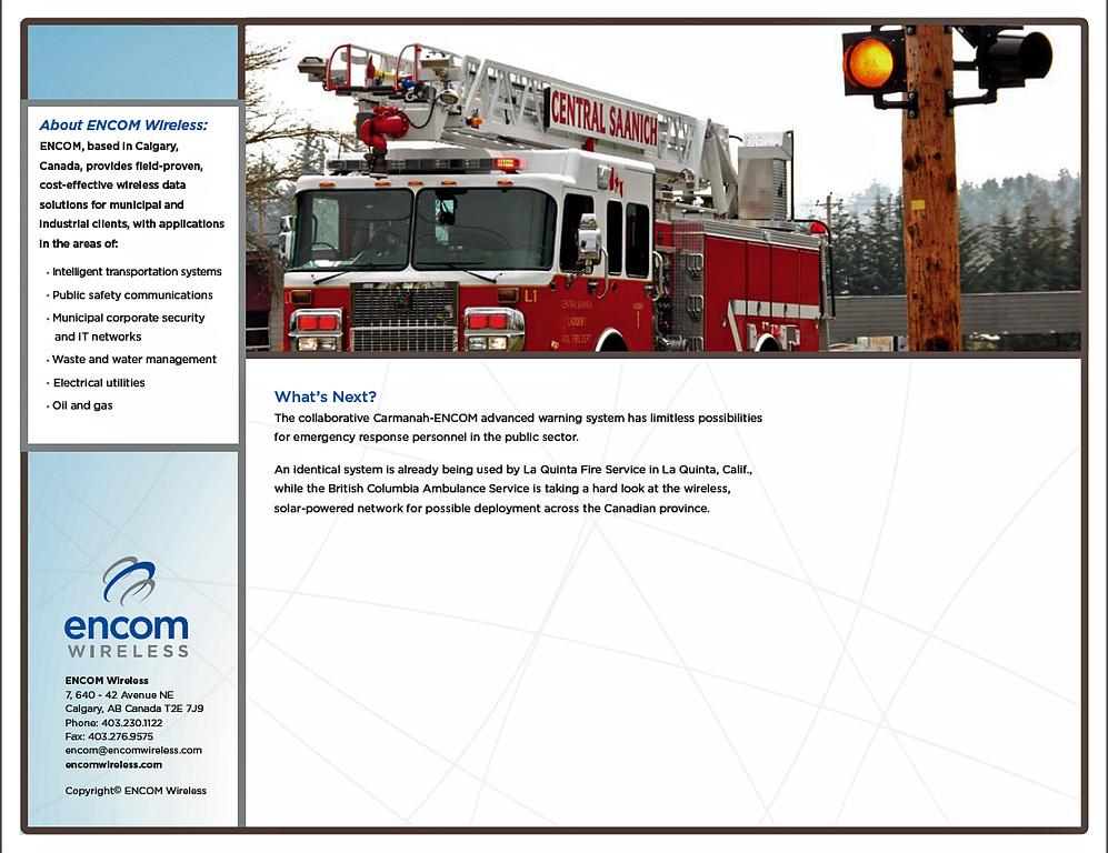 Photos for a Case Study promotion packet for ENCOM/Carmanah solar lighting, August, 2009. Calgary, Alberta.