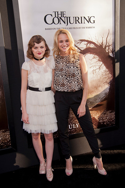 HOLLYWOOD, CA - JULY 15: Actresses Joey King and Haley King arrive at the Los Angeles Premiere 'The Conjuring' at ArcLight Cinemas Cinerama Dome on Monday, July 15, 2013 in Hollywood, California. (Photo by Tom Sorensen/Moovieboy Pictures)