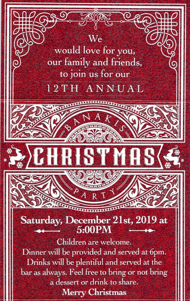 20191221 12th Annual Banakis Christmas Party