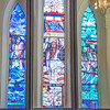 South West porch - The Calling of St James <br> glass by Stuart Reid, Toronto