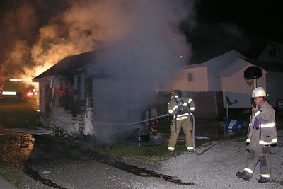 07-04-09 Coshocton FD Garage Fire