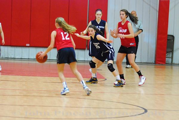 2012-04-15 Girls Middle School Basketball Blue Wave vs AOB
