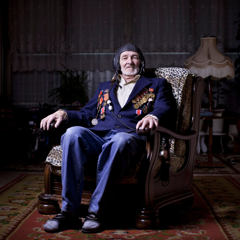 . Soviet Jewish World War Two veteran Nahum Matovich, 87, poses for a portrait at his house in the southern Israeli city of Ashkelon. Mativich was an air force bomber pilot on Ilyushin Il-4 bomber in the Soviet 18th Air Army and fought in Japan and Korea. He immigrated to Israel from Kishinev, today\'s Moldova, in 1994. About 500,000 Soviet Jews served in the Red Army during World War Two, and the majority of those still alive today live in Israel.   (AP Photo/Oded Balilty)