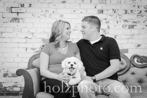 Samantha & Brandon B/W Engagement Photos