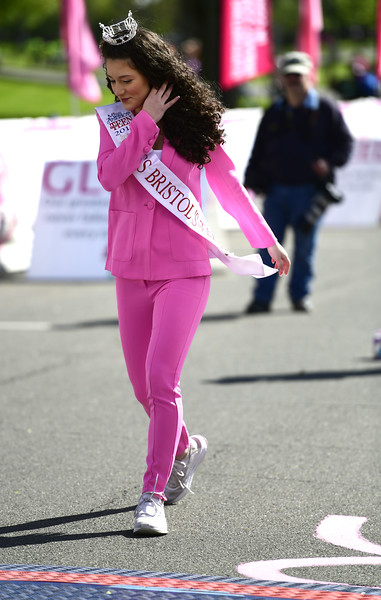 5/11/2019 Mike Orazzi | Staff Lindiana Frangu, Miss Bristol's Outstanding Teen 2019 during the 16th annual Race in The Park held Saturday in New Britain.